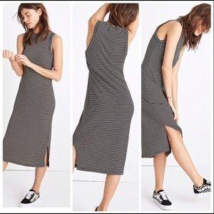 Madewell mock neck wool midi dress